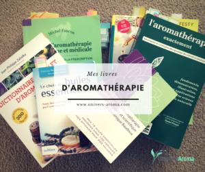 Mes livres d'aromathérapie en français