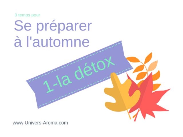 3 temps pour se préparer à l'automne : la détox